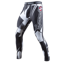 Metaru 47 Silver Compression Pants Black/White